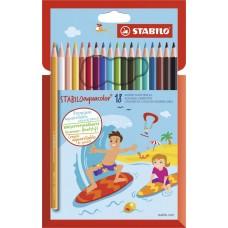 Набор акварельных цветных карандашей Stabilo aquacolor, 18 цветов