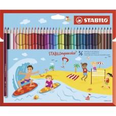 Набор акварельных цветных карандашей Stabilo aquacolor, 36 цветов