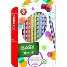 Набор цветных карандашей Stabilo EASYcolors для правшей с точилкой, 12 цветов