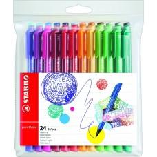 Набор капиллярных ручек Stabilo Point Max, 24 цвета