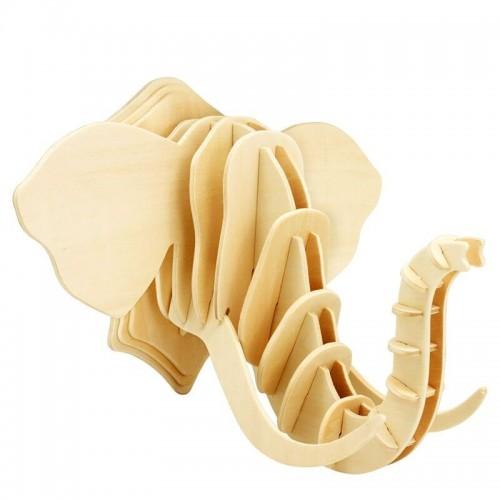 3D деревянный пазл Robotime Настенные украшения - Слон