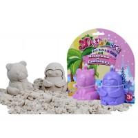 Формочки для песка и снега Биплант - Медвежка и Пингвинка 3D №2, 2 штуки