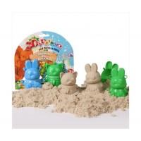 Формочки для песка и снега Биплант - Зайка и Енотка 3D №1, 2 штуки