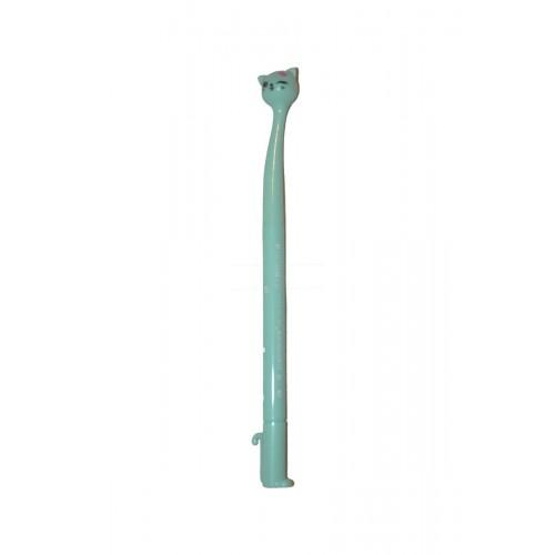 Ручка шариковая Кошка голубая 0,5мм