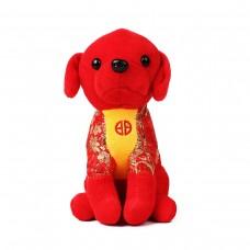 Игрушка мягкая Щенок 14 см красный