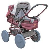 Чехлы на колеса коляски Чудо-Чадо - мокрый асфальт (4 шт., d = 18-28см)