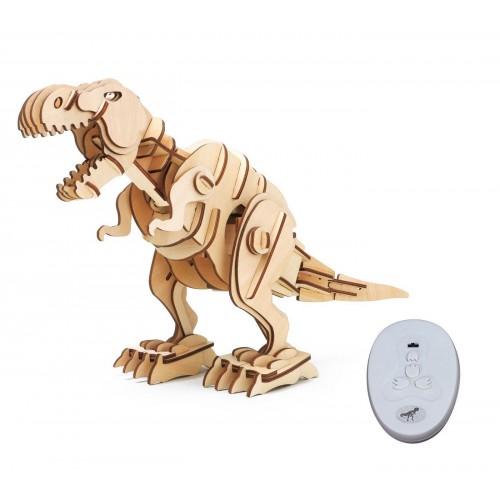 3D Деревянный пазл Robotime на управлении - Тиранозавр