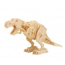 3D Деревянный пазл Robotime на управлении - Грозный Тиранозавр