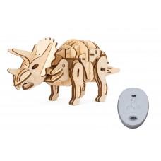 3D Деревянный пазл Robotime на управлении - Трицератопс