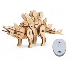 3D Деревянный пазл Robotime на управлении - Стегозавр