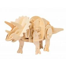 3D Деревянный пазл Robotime движущийся - Трицератопс