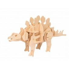 3D Деревянный пазл Robotime движущийся - Стегозавр