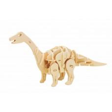 3D Деревянный пазл Robotime на звуковом управлении - Апатозавр мини