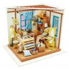 3D деревянный пазл Robotime Миниатюрный дом Магазин Тейлор