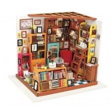 3D деревянный пазл Robotime Миниатюрный дом Рабочий кабинет Сэма