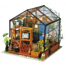 3D деревянный пазл Robotime Миниатюрный дом Оранжерея Кэти