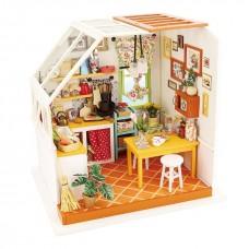 3D деревянный пазл Robotime Миниатюрный дом Кухня Джэйсон