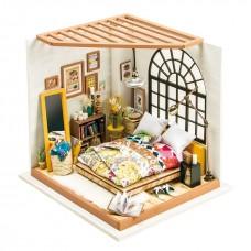 3D деревянный пазл Robotime Миниатюрный дом Спальня Элис
