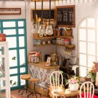 3D деревянный пазл Robotime Миниатюрный дом Кофейня Саймона
