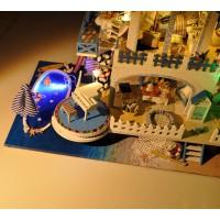 DIY Миниатюрный кукольный дом Blue color melody - Синяя мелодия, интерьерный домик