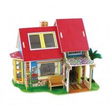 3D деревянный пазл Вилла мечты Кухонный дом с мебелью