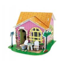 3D деревянный пазл Вилла мечты Гостиная с мебелью