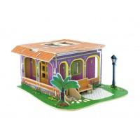 3D деревянный пазл Вилла мечты Рабочий кабинет с мебелью