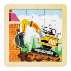 Деревянный пазл Robotime - Экскаватор