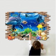 Наклейки на стену Водный мир На глубине 60х90 см