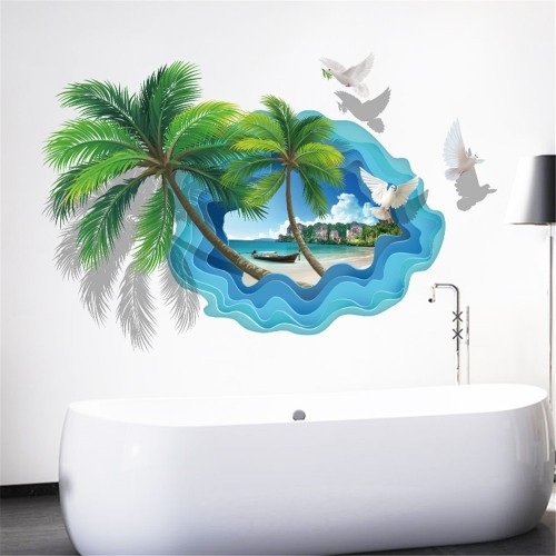 Наклейки на стену Природа Карибы 60х90 см