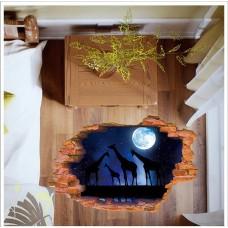 Наклейки на стену Животные Ночная саванна 60х90 см