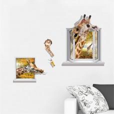 Наклейки на стену Животные Веселый жираф 60х90 см