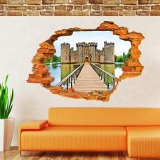 Наклейки на стену Города Средневековая крепость 60х90 см