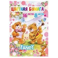 Набор цветной односторонней бумаги FANCY А4 8 цветов 16 листов, музыканты