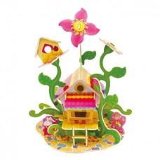 3D деревянный пазл Цветочный дом