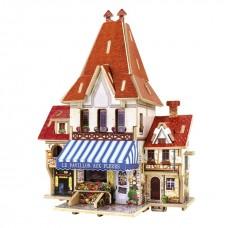 3D деревянный пазл Robotime Фрацузская серия Цветочный магазин