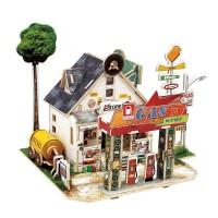 3D деревянный пазл Robotime Американская серия Заправка