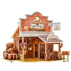 3D деревянный пазл Robotime Американская серия Бар