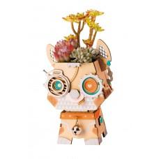 3D деревянный пазл Robotime Кашпо Щенок