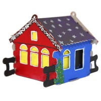 Набор для творчества - Конструктор-раскраска домик - Избушка