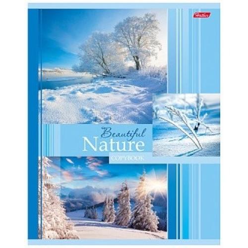 Тетрадь Hatber Beautifil nature, 48 листов, клетка, А5, зима