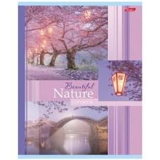Тетрадь Hatber Beautifil nature, 48 листов, клетка, А5, сакура