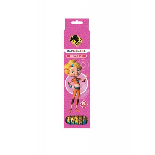 Набор цветных карандашей ACTION Алиса, 6 цветов - Алиса