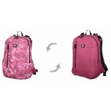 Рюкзак DUO Reversible перевертыш двусторонний красно-розовый