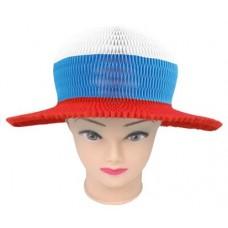 Шляпа карнавальная - Российский триколор