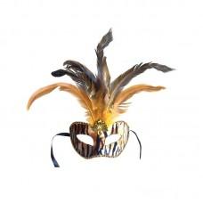 Аксессуар для карнавала - Маска с перьями