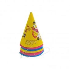 Аксессуар для карнавала - Набор колпаков, 6 штук, картон