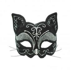 Аксессуар для карнавала - Маска Венецианская кошка, 21см