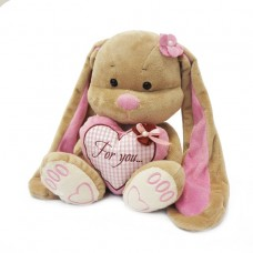 Мягкая игрушка Jack and Lin - Зайка Лин с сердцем, 25 см