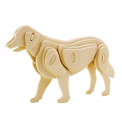3D деревянный пазл Robotime Домашние животные - Собака